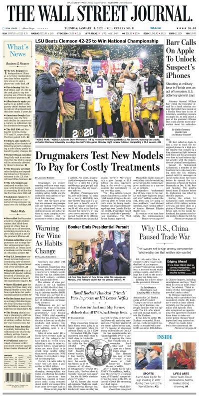 The Wall Street Journal - 14 01 (2020)