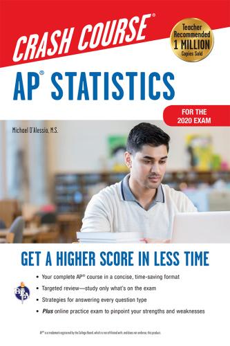 AP Statistics Crash Course, For the 2020 Exam,  +  Online (Advanced Placement (AP)...