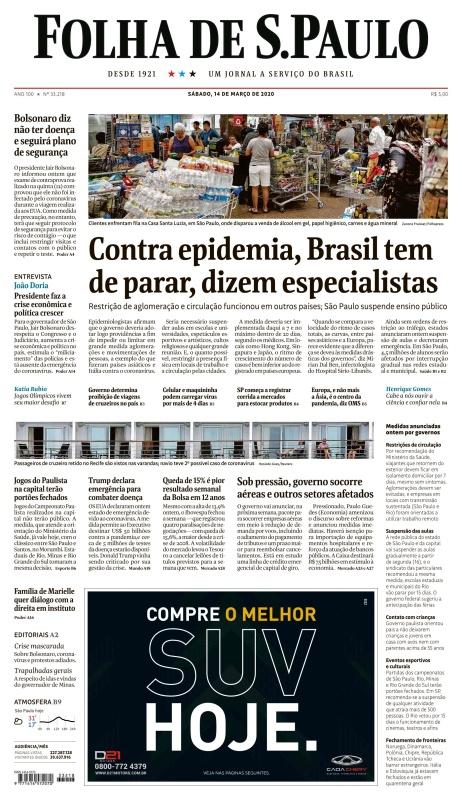 Folha de S 227 o Paulo - 14 03 (2020)