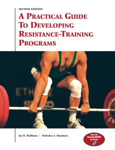 A Practical Guide to Developing Resistance-Training Programs