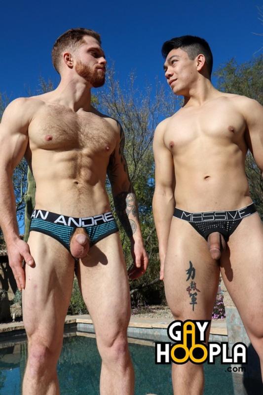 """Young Jocks Dutch Weaver & Dustin Hazel In """"The GayHoopla Experience"""""""