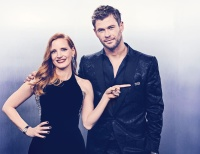 Jessica Chastain and Chris Hemsworth - 75th Annual Golden Globe Awards portrait