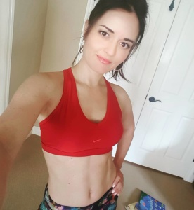 Danica McKellar - Shows Off Tight Abs In A Sports Bra Using Social Media (4/16/18)