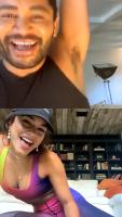 Vanessa Hudgens - Instagram Live 14/5/2020 (workout)