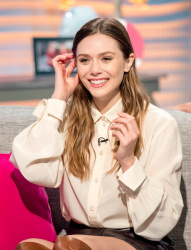 Elizabeth Olsen - At the 'Lorraine' Show in London 4/11/18