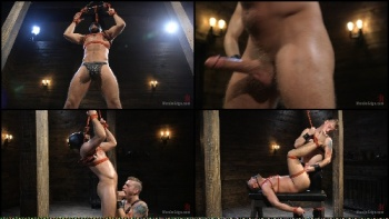 Submissive Stud Andy Jack Bound in Rope and Fucked in Ass 2017-10-24
