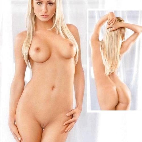 Hot nude blonde models