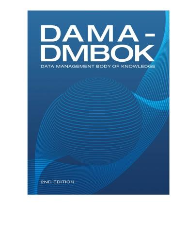 Dama-Dmbok  data management body of knowledge