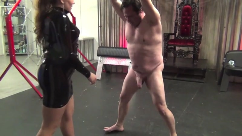 Mistress Elena De Luca starring in video (I NOW OWN YOUR BALLS) of (DomNation) studio [SD 480P]