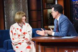 Anna Wintour - The Late Show with Stephen Colbert: May 9th 2018