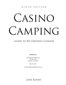 Casino C&ing- Guide to RV-Friendly Casinos, 9th Edition