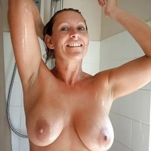 Nude women in public showers